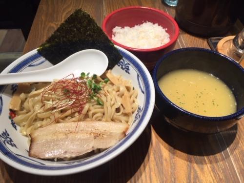 白湯つけ麺+ライス