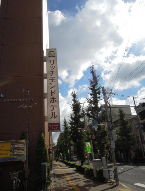 台風の日の青空